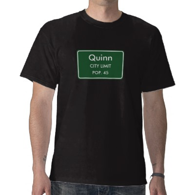 Quinn, SD City Limits Sign T-Shirt